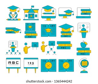 online education and e-learning icon set. Vector illustration concepts for graphic and web design.