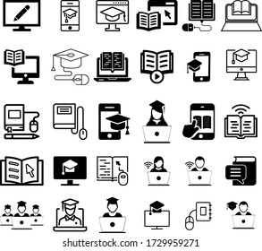 Online education icon set. Distant study