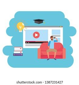 Online education millennial student webpage