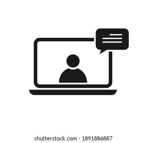 Online education resources vector icon, online learning courses, distant education