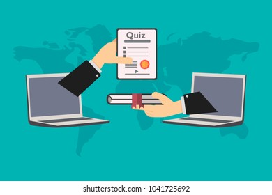 online education, the student receives certificate after submitting virtual exam