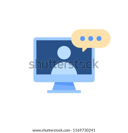 Online Education Video Call Learning Tutorial Stock Vector