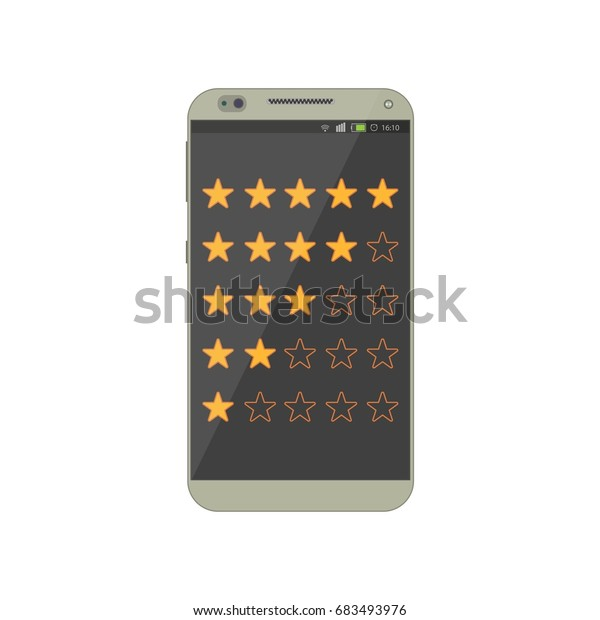 Online Feedback Rating Review Mobile App Stock Vector (Royalty Free