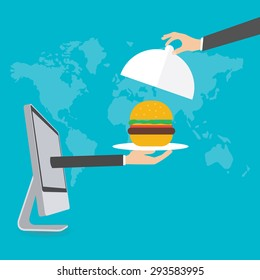 Online Food Delivery, vector