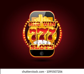 Online gambling concept cellphone casino app design