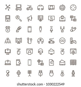 Online game icon set. Collection of high quality black outline logo for web site design and mobile apps. Vector illustration on a white background.