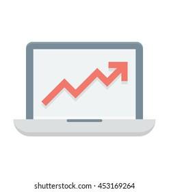 Online Graph Vector Icon