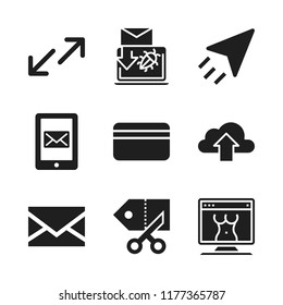 online icon. 9 online vector icons set. coupon, pornography and spam icons for web and design about online theme