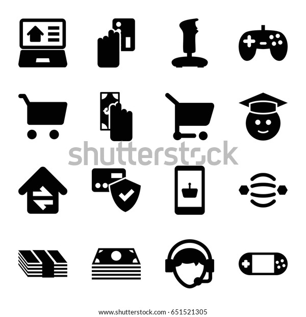 Online Icons Set Set 16 Online Stock Vector (Royalty Free