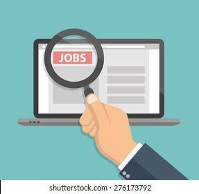Online job searching  concept - Flat design