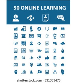 online learning, education icons