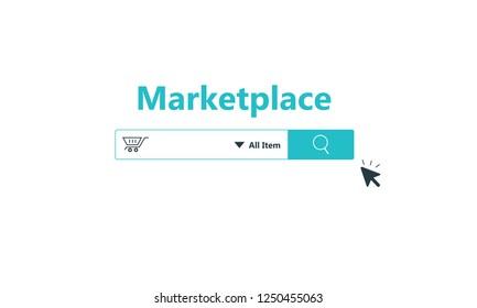 Online marketplace concept