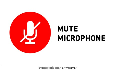 online meetings mute microphone icon button cover thumbnail symbol vector