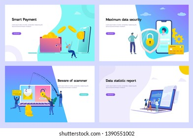 online money transfer vector illustration, digital data protection concept, online payment, Phising scam, credit report, can use for, landing page, template, ui, web, homepage, poster, banner, flyer