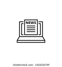 Online News Design Icon Vector