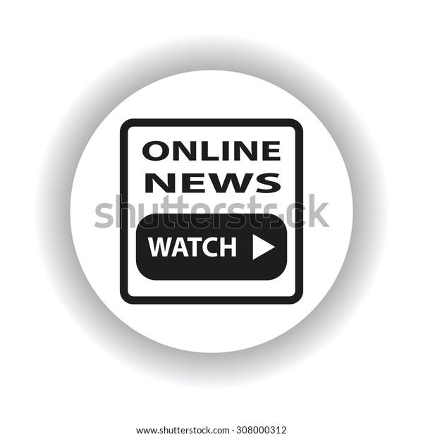 online news. icon. vector design