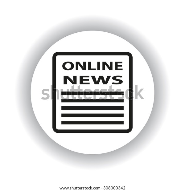 online news. icon. vector design