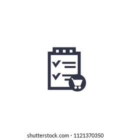 online order vector icon on white