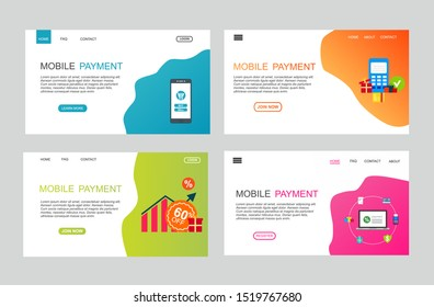 online payment online concept. Internet payments, protection money transfer, online bank vector illustration. Landing page template.