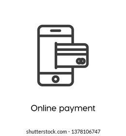 Online payment icon vector. Paying and banking symbol. E-commerce and banking icon vector. Linear style sign for mobile concept and web design.