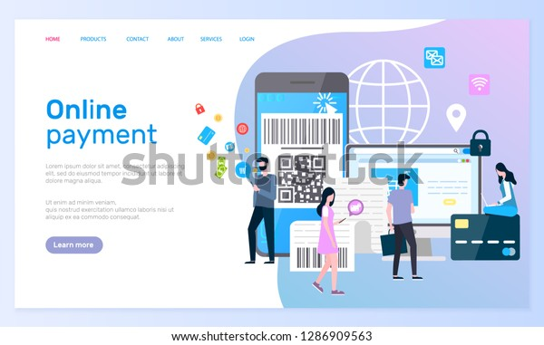 Online Payment Security Cell Phone Globe Stock Vector