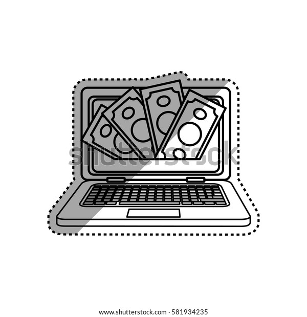 Online payment system icon vector illustration graphic design