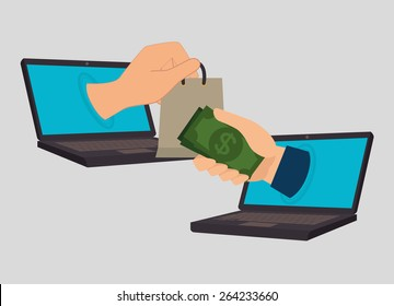 Online payments design over gray background, vector illustration.