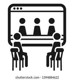 Online people cohesion icon. Simple illustration of online people cohesion vector icon for web design isolated on white background