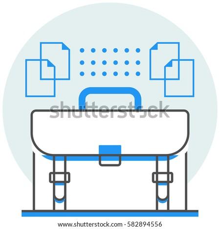 online portfolio infographic icon elements online stock vector