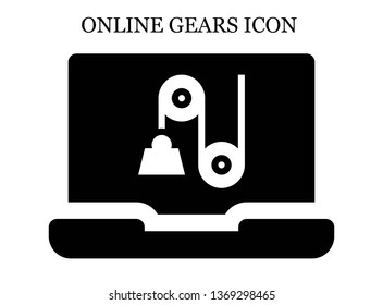 online Pulley icon. Editable online Pulley icon for web or mobile.