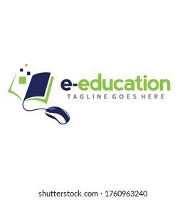 Online School Logo. Learning Logo Design Vector