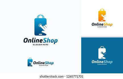 Online Shop logo designs template, Phone Shop logo symbol icon, Logo template icon