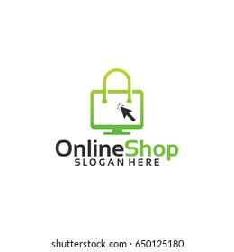 Online Shop Logo designs Template, Vector illustration