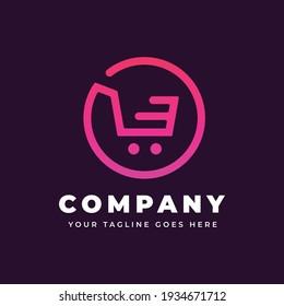 Online shop logo template   Ecommerce