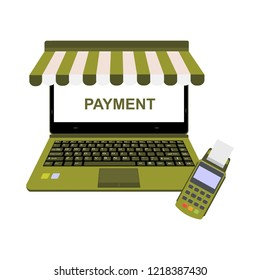Online shop payment with EDC machine