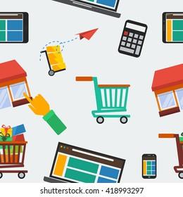 Online Shop Seamless Pattern