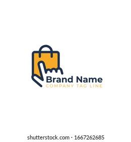 Online shop vector logo for business