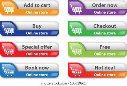 Online shop web interface elements. Vector illustration