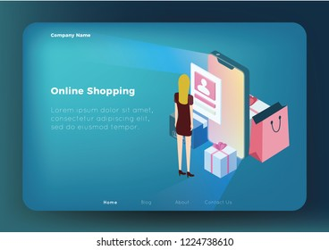 Online Shoping Concept