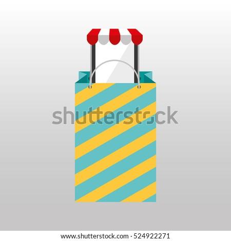 Online Shopping Big Bag Present Design Stock Vector (Royalty Free ... f889bff579f27