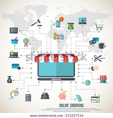 Online Shopping Desktop Awning Various Icon Stock Vector ... on world map terrain, simple world map vector, world map outline vector, world map with symbols, world globe vector, world map social media icons, world map silhouette vector, world map to color, usa map icon vector, world map vector art, flat world map vector, world map vector ai, world icon no background, vintage map clip art vector, world map infographic element, us map vector, world map background vector, world map outline eps, world map clip art,