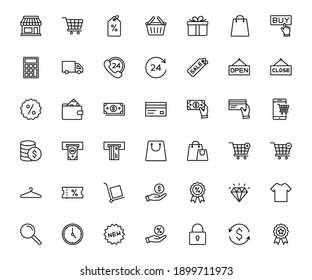 online shopping and E-commerce icon set. for web or mobile app