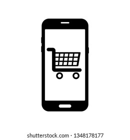 bd3db4177df Online shopping icon. Online shopping on Smartphone. vector illustration