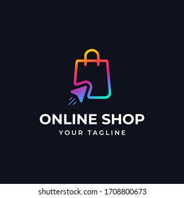 Online shopping logo design template