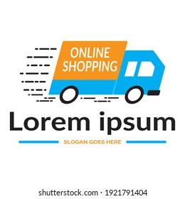 Online Shopping Logo Design Logo Vector Absract Parcel Logo Design