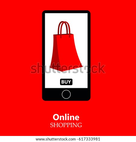 3350872be47 Online Shopping Mobile Phone Shopping Mobile Stock Vector (Royalty ...