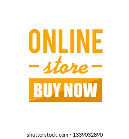 online store buy now sign concept illustration over a white background