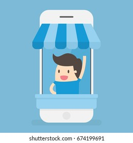 Online Store. E-Commerce. Business Concept Illustration.