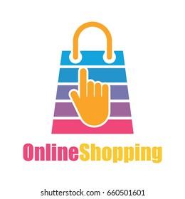 online store / online shopping logo for your business online. vector illustration