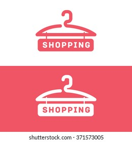 Online store with shopping word vector logo.